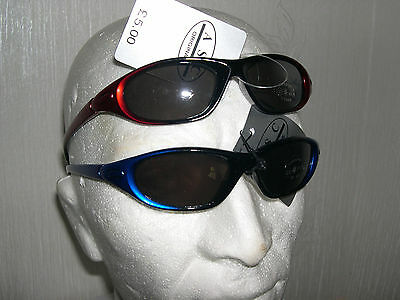 2 pairs of Kids Sports Sunglasses, Blue and Red