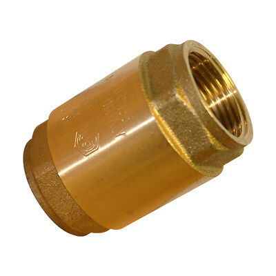 "Brass Spring Check (Non-Return) Valve Bspp - Sizes 1/2"" To 4"" - Stainless Disc"