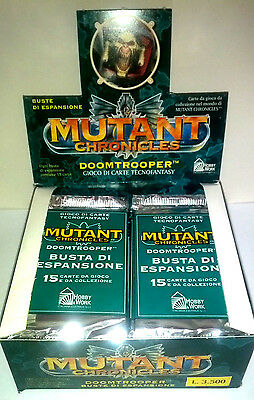 Mutant Chronicles : Box DOOMTROOPER 20 Bustine 300 carte ITALIANO NEW PERFETTO!!