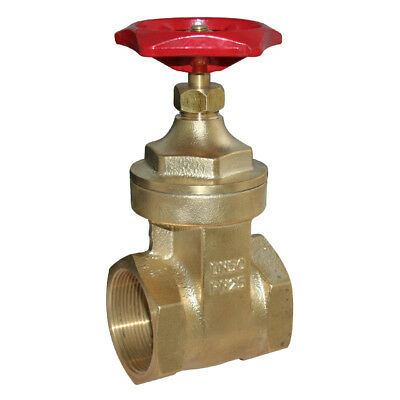 "Brass Gate Valve Bspt - Sizes From 1/2"" To 4"" - Rated Up To Pn25 - Wras Approved"