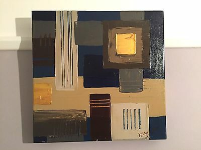 Nikky Corker Original Abstract - Oil on Canvas. Fantastic Condition - Signed