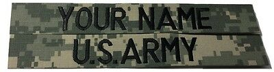 2 piece ACU Custom Name Tape & US ARMY Tape set, Sew-On - US Army Military