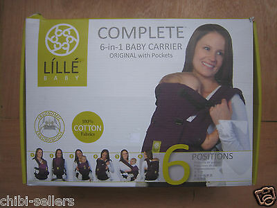 Lille Baby Complete 6-In-1 Baby Carrier Black**new Free P&p**