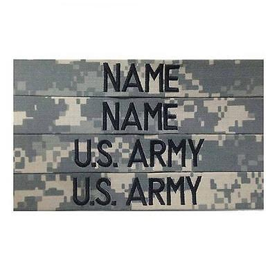 4 piece ACU Custom Name Tape & US ARMY Tape set, Sew-On - US Army Military