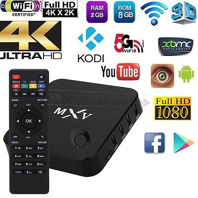 MXV PLUS EDITION - Fully Loaded KODI - Android 6.0 Smart TV Box Quad Core