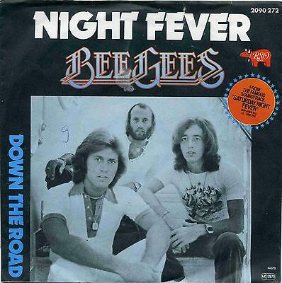 """7"""" Bee Gees: Night Fever / Down The Road - 1977"""