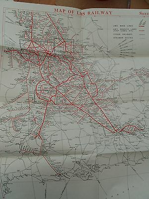 Set Of 4 1939 Railway Maps  Of Lms System
