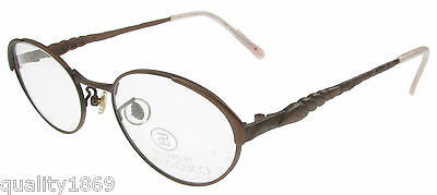 Paolo Gucci 6305631 Designer Reading Eye Glasses,spectacles Frames Bronze  New