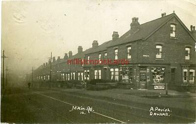 Real Photographic Postcard Of The Main Road Darnall, West Yorkshire Shop Front