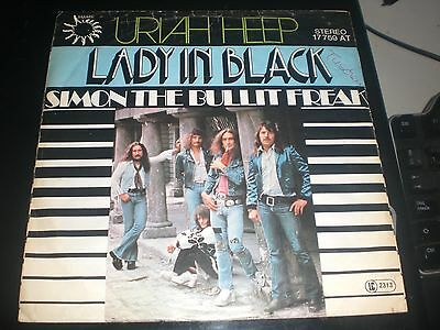 Single Uriah Heep - Lady In Black - Bronze Germany Re 1977 Vg/vg+