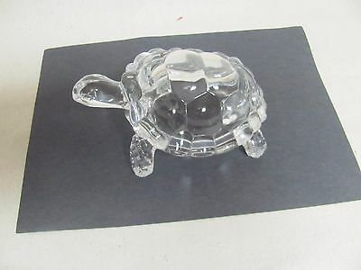 Sparkling Clear Glass Turtle