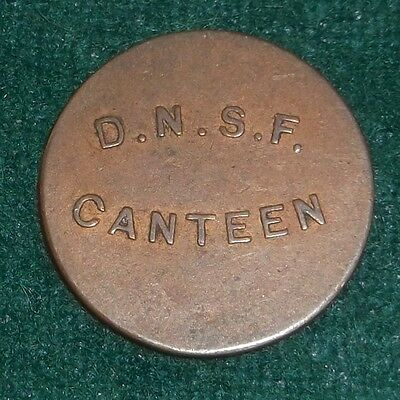 Military Token  D N S F  Factory Ref Number 241