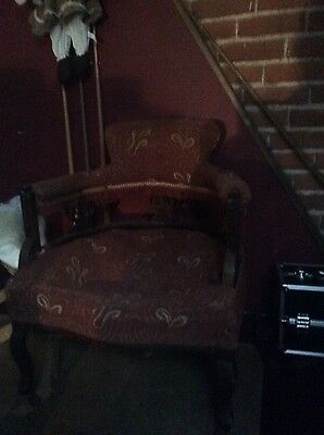 Shabby victorian ornate chair In need of restoration