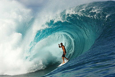 """Kelly Slater at Teahupo'o 12x18"""" Photo by Pete Frieden"""