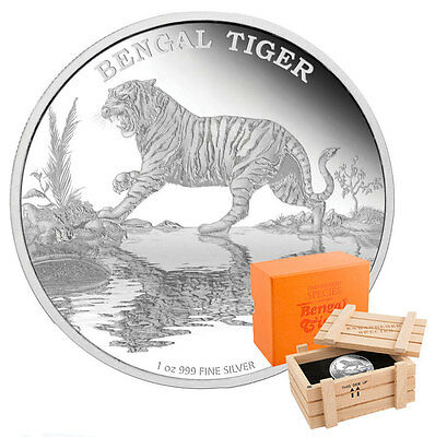 2015 Endangered Species Bengal Tiger - 1oz Limited Edition Proof Silver Coin