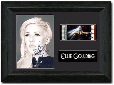 Ellie Goulding 35 mm Framed Film Cell Display Signed Stunning Collectible