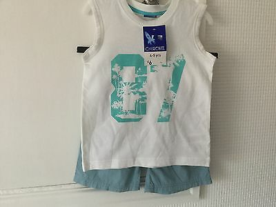 Boys Top And T Shirt Bnwt To Fit Age 4 - 5 Years.