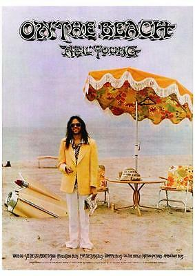 Neil Young **CANVAS POSTER** On The Beach  - HIGH Quality Art Print  *LARGE*
