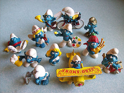 Smurfs, Lot of 12 Various Forms
