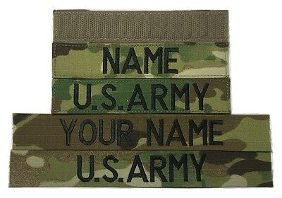 2 piece Multicam OCP Custom Name & US Army Tape set, with Fastener or Sew-On
