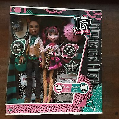 Draculaura & Clawd Wolf Forbitten Love NRFB French 1st wave 2011 Monster High