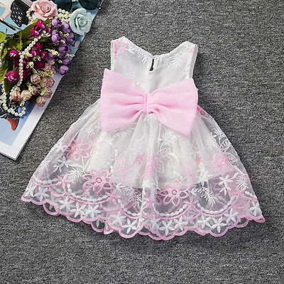 Baby Infant Girl Flower Party Bridesmaid Christening Wedding Prom Occasion Dress