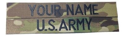 2 piece Multicam OCP Custom Name Tape & US ARMY Tape set, Sew-On