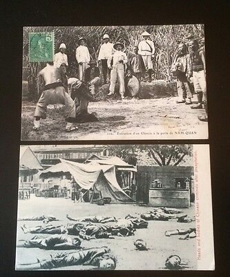 1900s Chinese EXECUTION BEHEADING DECAPITATION Antique Postcard Lot