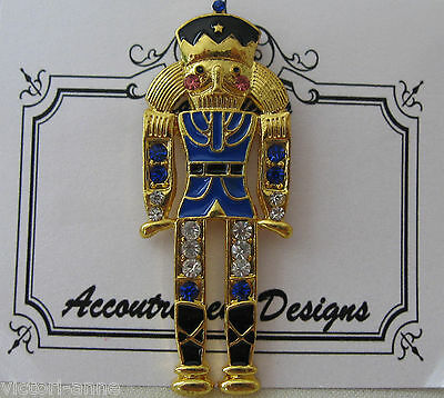 Accoutrement Designs Blue Nutcracker Needle Minder Brooch Magnet Mag Friends