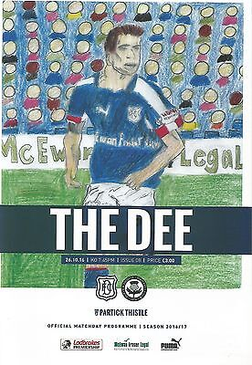 Dundee v Partick Thistle 16/17 brand new football programme