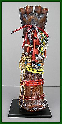 Captivating Rare  Bone Abstract Doll (Poupee Rituelle) From Togo's Losso Tribe