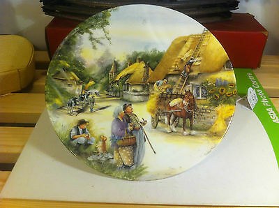 Royal Doulton  Old County Crafts Decorated Plates The Thatcher