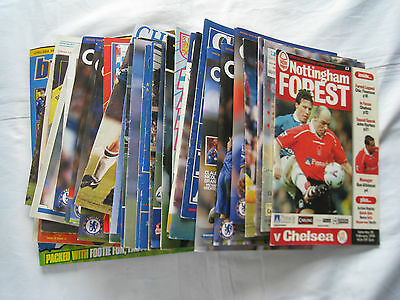 34 Chelsea Football Club Magazines - Programmes