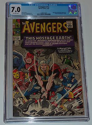 Us Avengers # 12 Cgc 7.0 (1963 Series) Stan Lee & Don Heck Rare