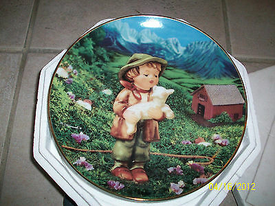 """HUMMEL Collector Plate Collection """"Gentle Friends""""1991 Numbered LOST SHEEP -MIB!"""