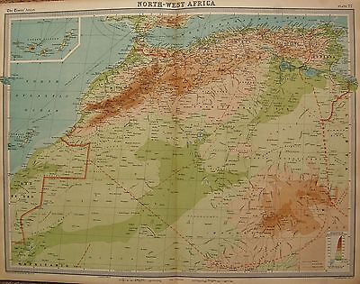 1920  Large  Map : North West Africa