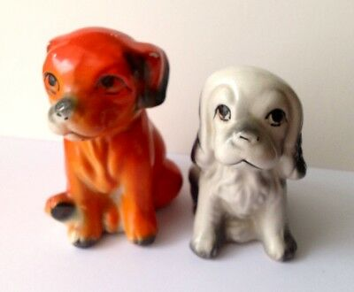 1960's Pair Of Collectable Dogs Adorably Sad