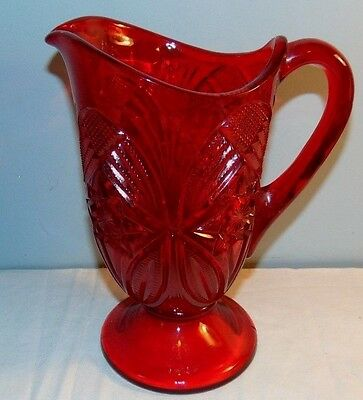 Mosser Red Glass Pitcher
