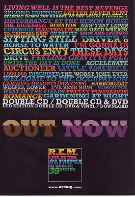 REM Live at The Olympia Dublin 39 Songs - Full A4 Page UK Press Magazine Ad 2009