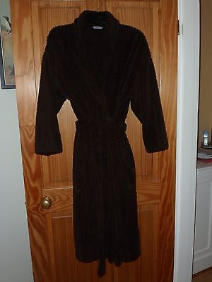 Marks & Spencer Ladies Dressing Gown Chocolate Brown Size 16/18