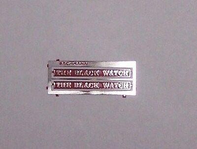 00 Bachmann Heljan Hornby/Lima NAMEPLATES for class 55013 The BLACK WATCH