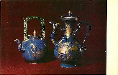 Chinese and Japanese porcelain art card tea pot and wine ewer