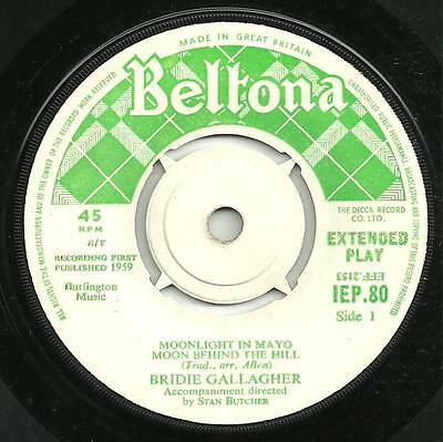 Bridie Gallagher - Moonlight In Mayo - 1959 Beltona Ep - Traditional Irish Dance