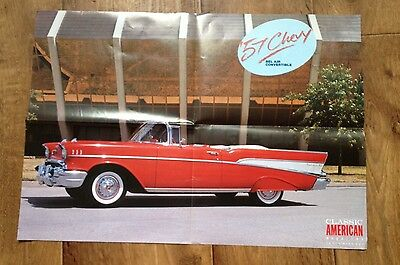 American 57 Chevy Car Bel Air Poster   58cmx41cm