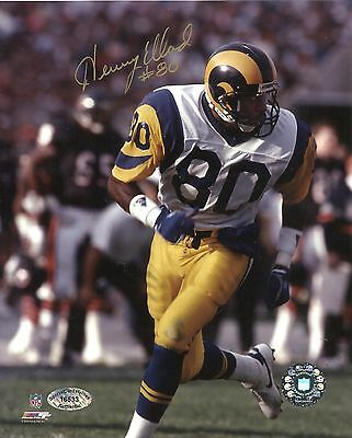 Henry Ellard Signed 8x10 Rams Photo SCH Authentic