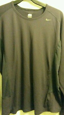 Mens Nike Fit Dry Long Sleeve Running Top Size 3 Xl Brand New