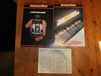Vintage Scalextric Catalogue 21st Edition + Electronic Accessories + price list