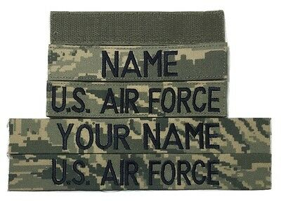2 piece ABU Custom Name & US Air Force Tape set, with Fastener or Sew-On, USAF