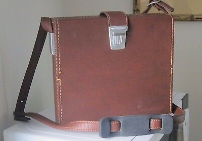 X-2 Shoulder bag for Polaroid SX70 camera - brown -  with room for access. case