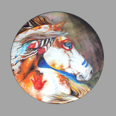 Hand Painted Horses Natural Mother Of Pearl Shell Diy Pendant Zp30 00493